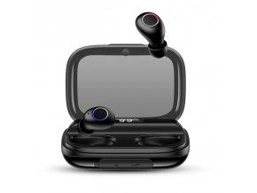 Usams YJ TWS bezdrôtové Bluetooth BT 5.0 Mini slúchadlá s digitálnym displejom čierne