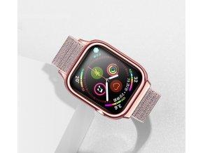 USAMS ZB073 športovo elegantný Nylon remienok pre Apple Watch 4 40mm zlatoružový