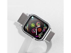 USAMS ZB074 športovo elegantný Nylon remienok pre Apple Watch 4 44mm strieborný