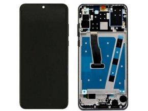 Huawei P30 Lite, Nova 4E LCD displej a dotykové sklo s rámom čierne (Premium J-4FXQ)