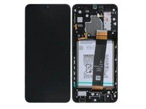 Samsung A326 Galaxy A32 5G LCD displej a dotykové sklo s rámom čierne Original (Service Pack)