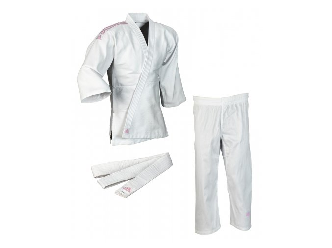 adidas JudoGi Club J350K white pink 1[610x480]