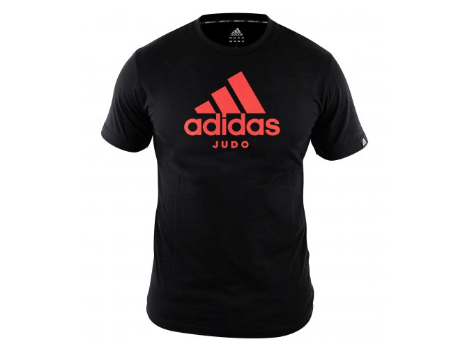 adiCTJ adidas t shirt community line judo black red 1