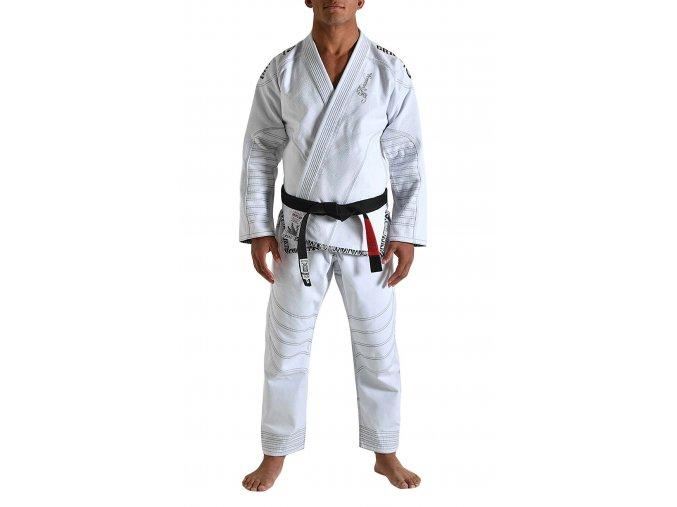 Gr1ps bjj kimono gi armadura white grips 1