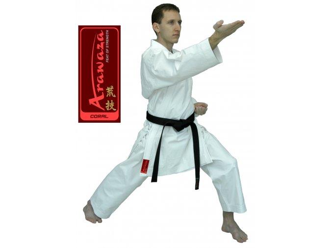 KIMONO KARATE ARAWAZA CORAL - kalhoty s gumou v pase
