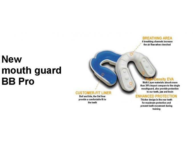 Chránič ZUBŮ BB PRO, junior a senior, tvarovatelný