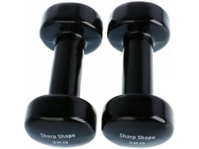 Činky set SHARP SHAPE Vinyl set 2 x 3kg Black
