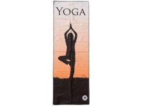 Ručník na jógu Sharp Shape Yoga Microfibre towel Mirror