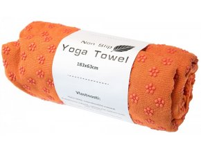 Podložka na jógu Sharp Shape Non slip towel orange