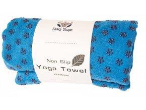 Podložka na jógu Sharp Shape Non slip towel blue