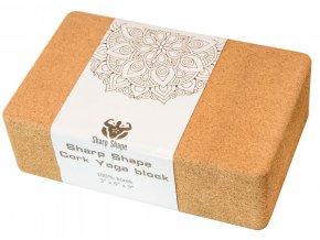 Jóga blok Sharp Shape Cork Yoga block