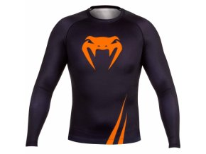venum rash guard longsleeve challenger black orange 2025[610x480]