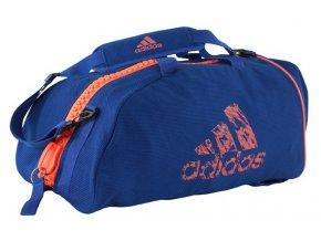 adidas taska batoh v jednom látka modrá