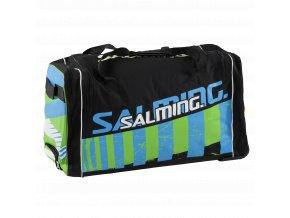 SALMING Wheelbag INK, 120L-28, JR, Black/Lime, 2 wheel