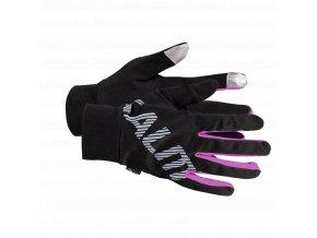 SALMING Running Gloves Black/Pink Glo