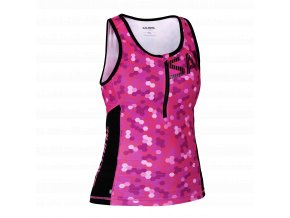 SALMING Triathlon Singlet Women Pink/Black