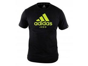 adiCTJ adidas t shirt community line judo black yellow 1