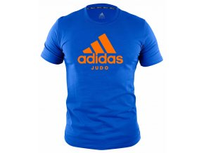 adiCTJ adidas t shirt community line judo blue orange 1