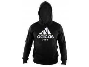 adiCHJ adidas community line judo hoodie black white 1