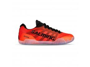 SALMING Hawk Men Shoe Black/Lava Red
