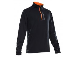 SALMING Halfzip LS Tee Men Black