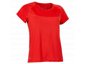 SALMING Run Laser Tee Women Poppy Red Melange