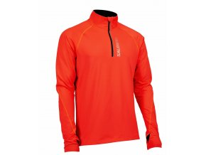 SALMING Halfzip LS Tee Men Orange