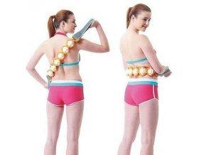 Masážní pás s poutky RS11  110 cm žluto/černý