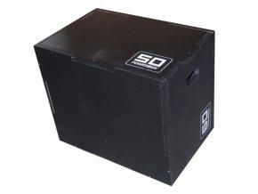 Plyometrická bedna dřevěná  DARKWOOD 40/50/60 cm