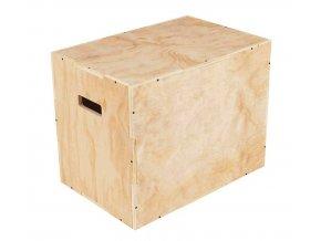 Plyometrická bedna dřevěná  WOOD 40/50/60 cm