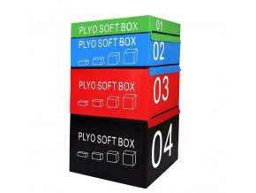 CrossFit PLYOSOFT box  90x75x45 cm červená
