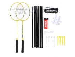 Sada raket na badminton WISH Alumtec 4466, žlutá