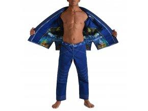 Gr1ps bjj kimono gi armadura blue grips 4