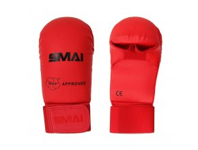SMAI rukavice karate WKF červené