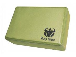 Jóga blok Sharp Shape Yoga block green
