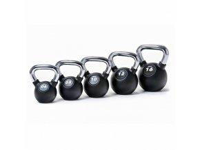Kettlebell  RUBBER-CHROM 8 kg
