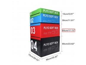 SET CrossFit PLYOSOFT box  90x75x15-60 cm