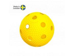 SALMING Aero Plus Ball, yellow with dumples