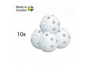SALMING Aero Ball 10-pack, white