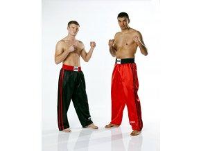 Kalhoty KICKBOXING FIGHTER PLUS červené - saténové