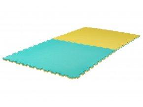 Tatami puzzle 2cm Grappling zelená žlutá
