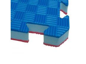 Tatami puzzle STANDARD 1m x 1m x 2cm červeno-modrá