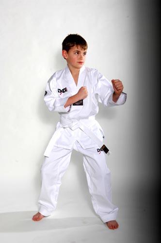 DAX Taekwondo Dobok VISION - bílý revers - WTF styl - CENA VČETNĚ PÁSKU Velikost: 180