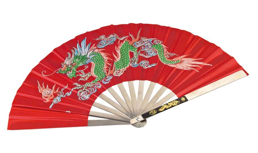 JU-SPORTS VĚJÍŘ PRO KUNG FU, TAI CHI Barva: Červená
