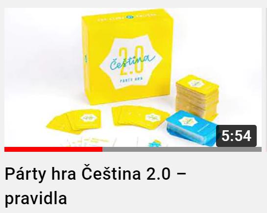 Pártyhra Čeština 2.0 - videonávod
