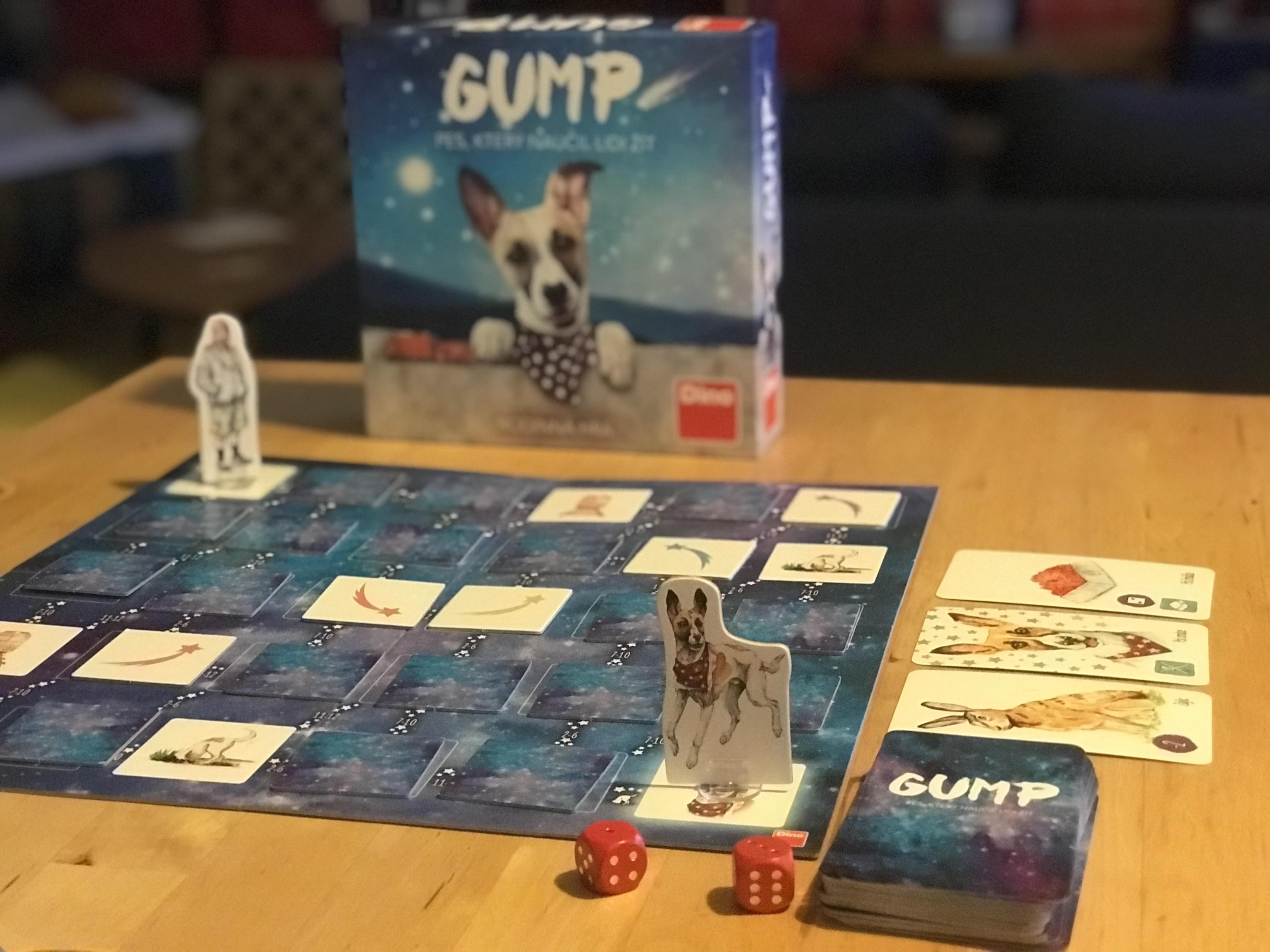 Gump: kooperativní rodinná hra na motivy knihy a filmu