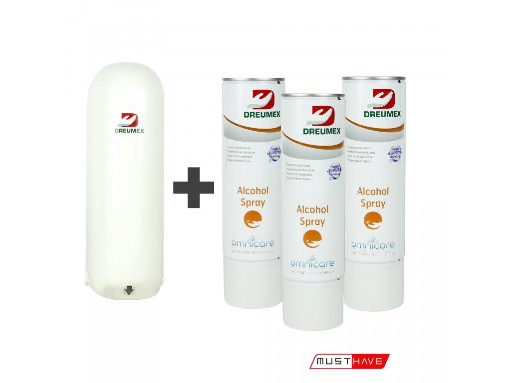 dreumex omnicare dispensor automatic davkovac alcohol spray 91304001001