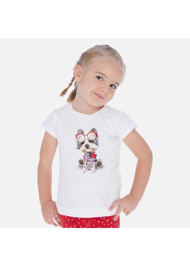 Tričko s krátkým rukávem, White-Red
