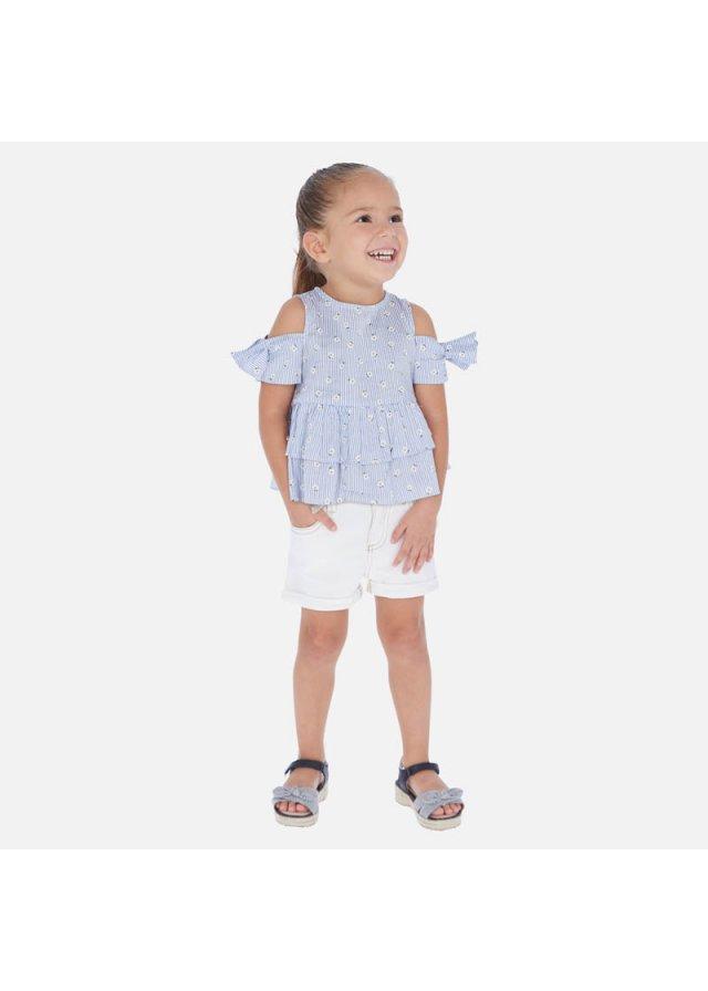 Šortky s obráceným lemem na nohavici