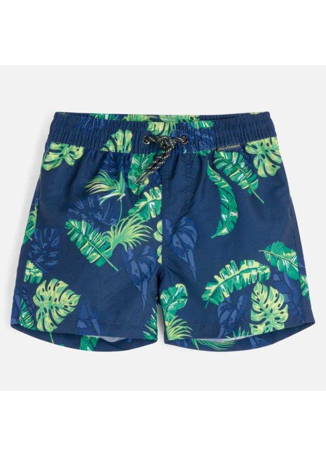 Plavky s tropickým vzorem, blue